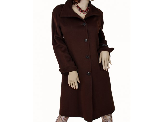 Ellen Tracy dámský kabát hnědý kašmírový