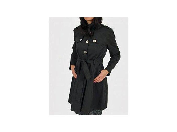 NINE WEST dámský černý lehký kabát se stříbrnými knoflíky