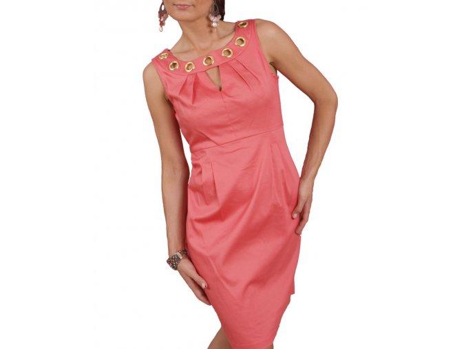 Studio AA dámské šaty korálové