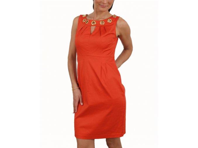 Studio AA dámské šaty oranžové