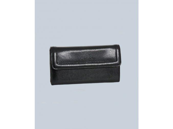 Calvin Klein dámská peněženka černá lesklá