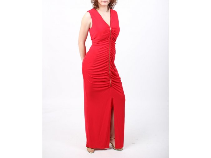 Calvin Klein dámské šaty dlouhé červené