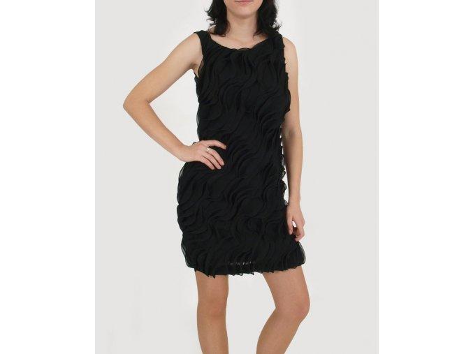 Calvin Klein dámské společenské černé šaty s volány