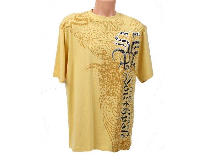 SOUTH POLE pánské tričko žluté