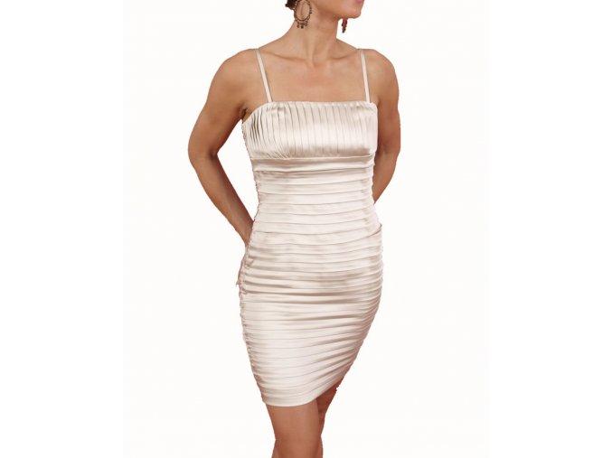 Calvin Klein dámské společenské šaty šampaňské
