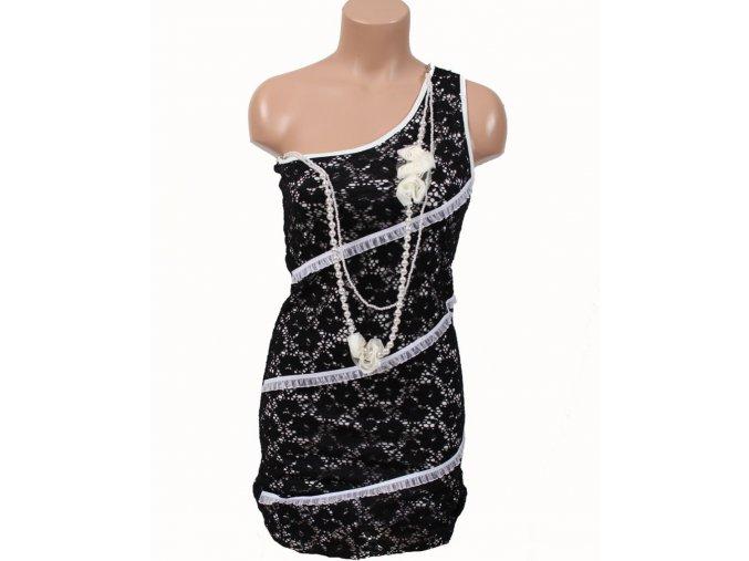 JUST ME dámské šaty černobílé