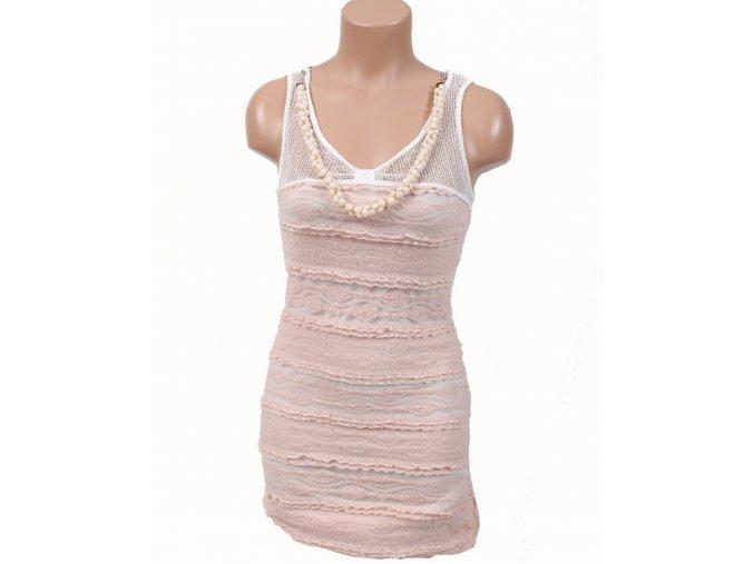 JUST ME dámské šaty světle růžové