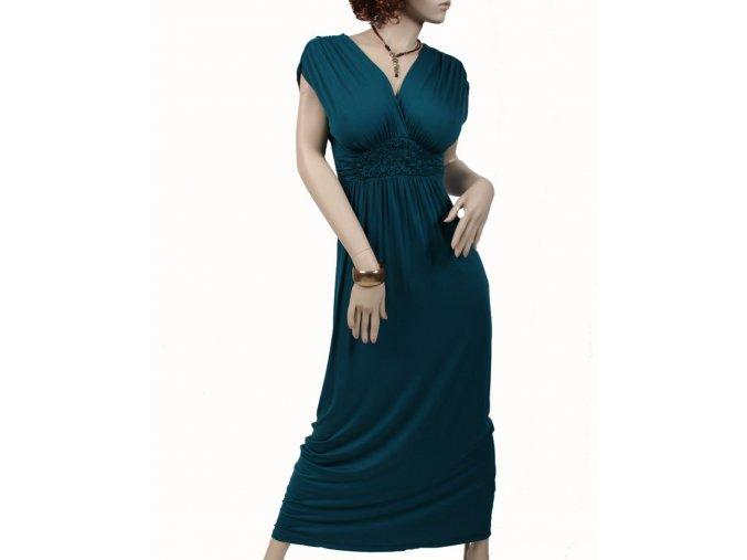 GILLI dámské šaty letní tmavě zelené
