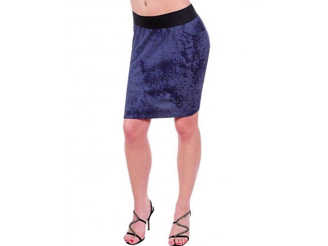 JANETTE PLUS U.S.A. dámská sukně modrá s kapsami