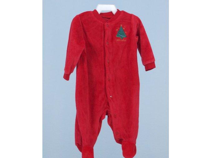 FADED GLORY dětské vánoční dupačky červené s výšivkou