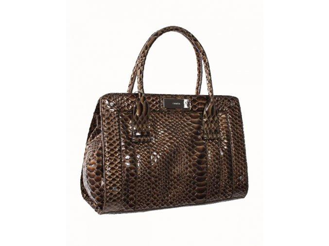Calvin Klein python dámská kabelka světle hnědá
