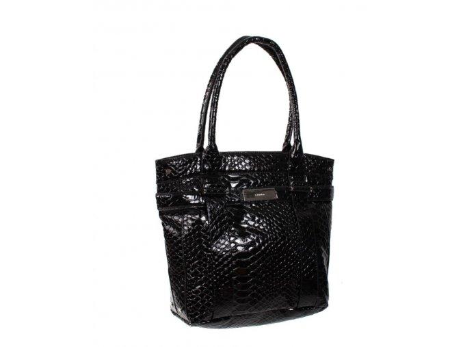 Calvin Klein python dámská kabelka černá