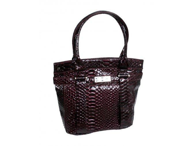 Calvin Klein python dámská kabelka vínová