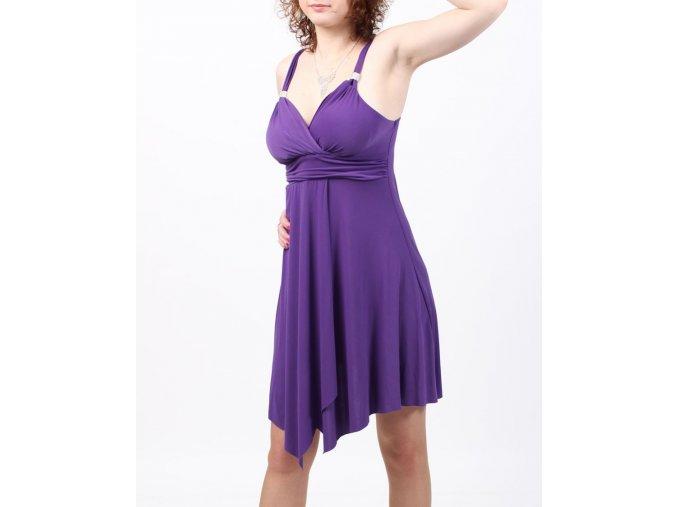 American City Wear dámské šaty fialové