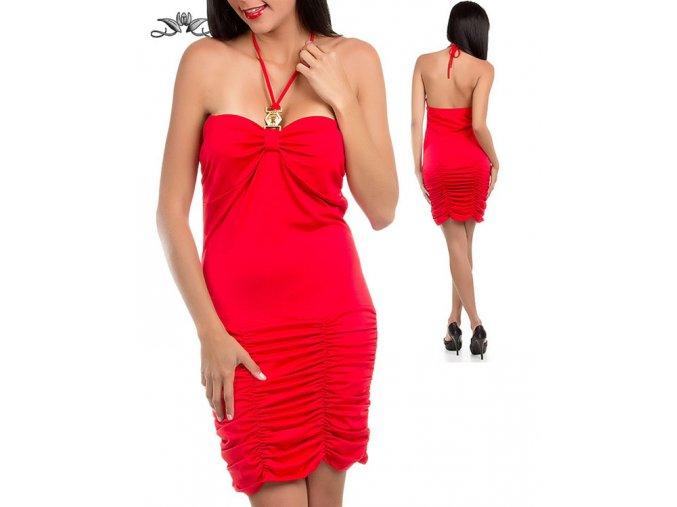 ULTIMATE Vánoční dámské společenské červené šaty