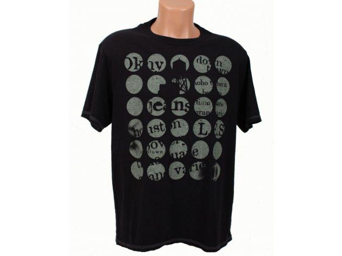 DKNY pánské tričko černé s nápisy