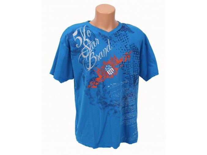 MECCA USA pánské tričko modré 5 Star Brand a tribal vzorem