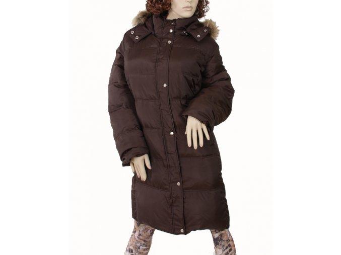 MICHAEL KORS dámská péřová dlouhá bunda hnědá
