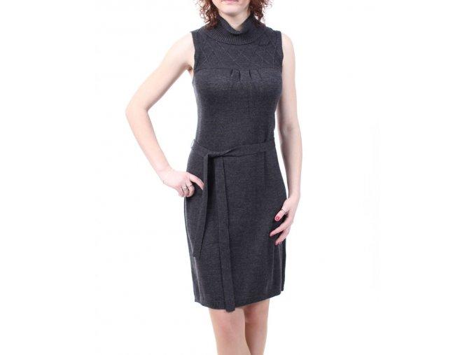 Calvin Klein dámské pletené šaty antracit