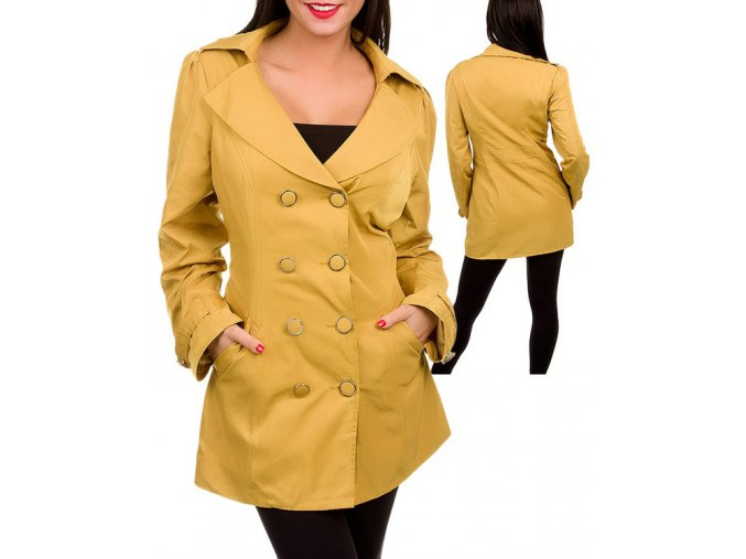 MARIBELLE U.S.A. dámský lehký kabát lesklý