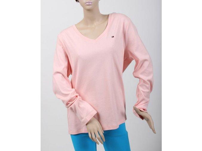 TOMMY HILFIGER dámské tričko růžové