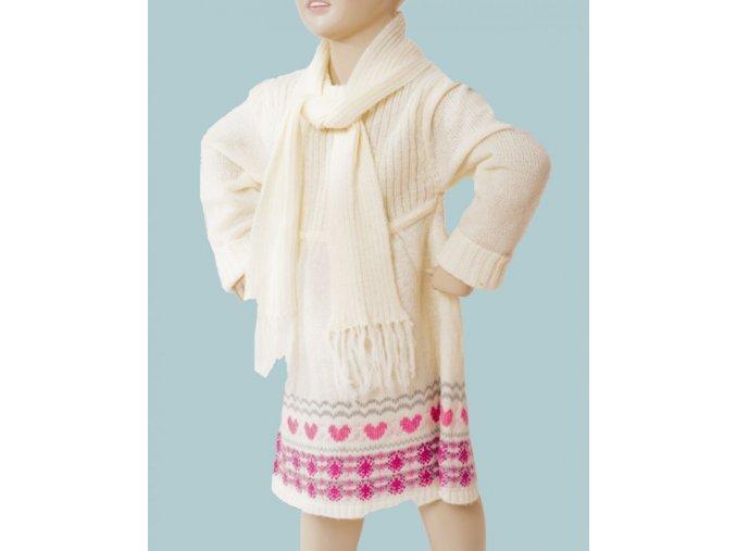 HEART CRUSH dívčí šaty pletené smetanové