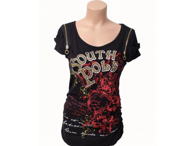 SOUTH POLE dámské tričko černé