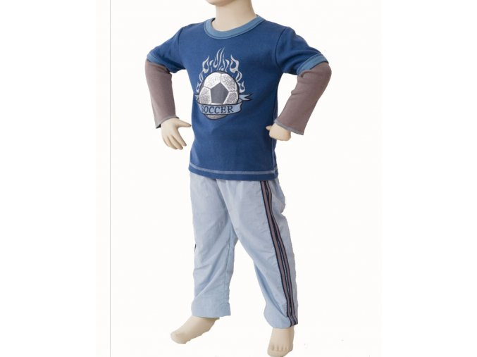 MIS TEE V-US dětská souprava, tričko s dlouhým rukávem s obrázkem míče, kalhoty