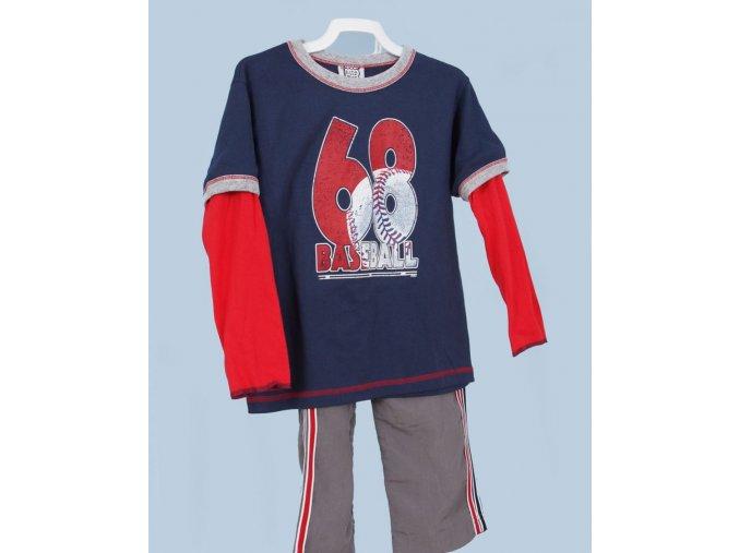 MIS TEE V-US dětská souprava, triko s dlouhým rukávem, nápis 68 baseball