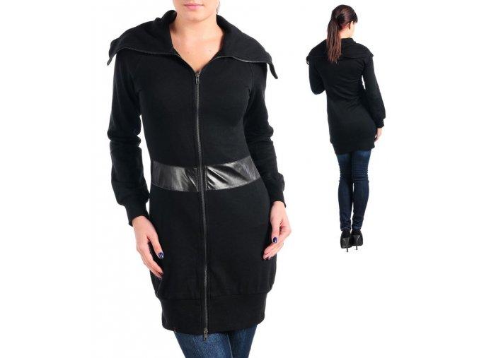 MOON COLLECTION dámský dlouhý černý svetr/šaty