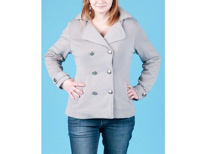 Snobbish dámské teplé sako světle šedé