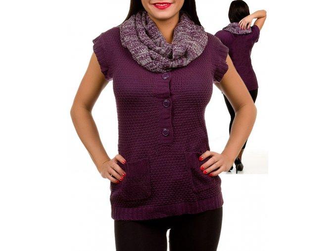 AMI SANZURI dámská vesta fialová s šálkou