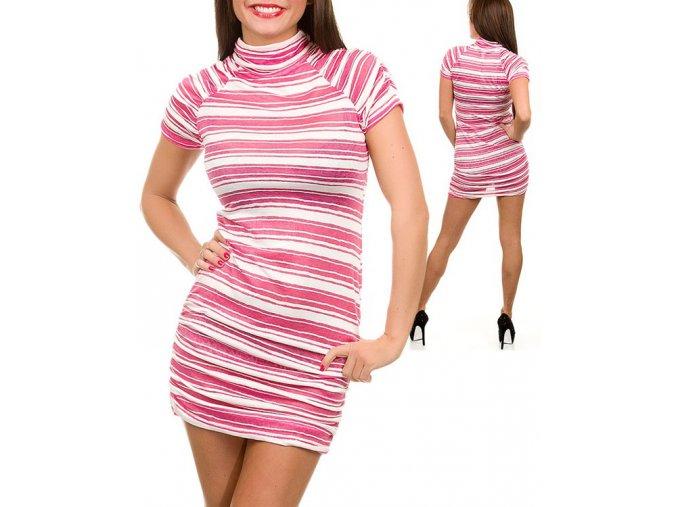 Backstage dámské šaty růžovobílé