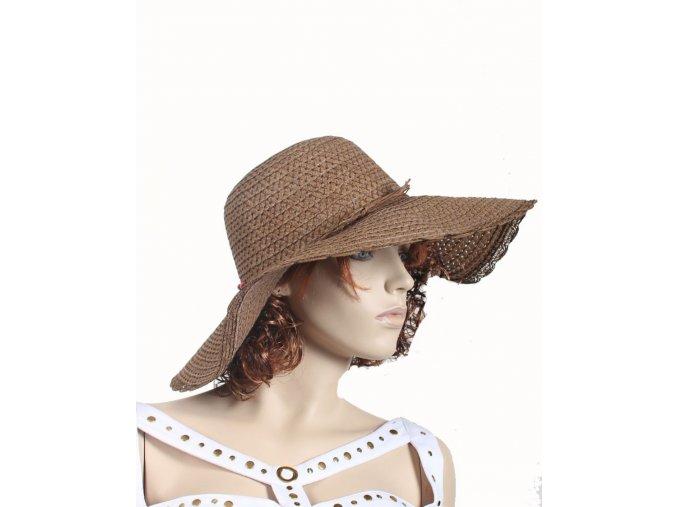 TQP dámský letní klobouk hnědý