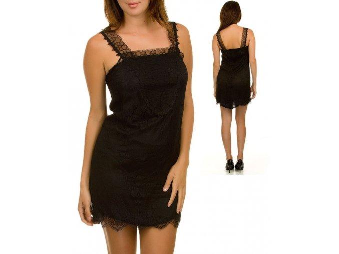 VERY J dámské šaty krajkové černé