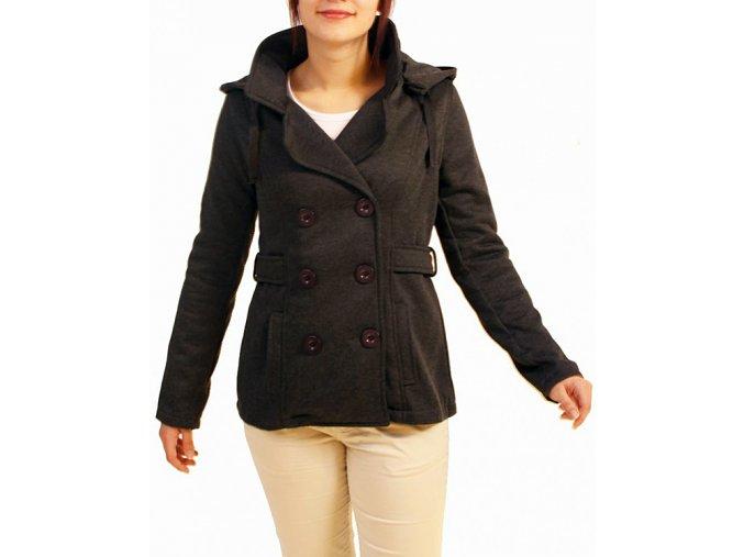 ZINGA dámské sako tmavě šedé s kapucí
