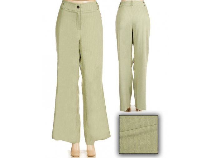 XTRA LUV dámské světle zelené kalhoty