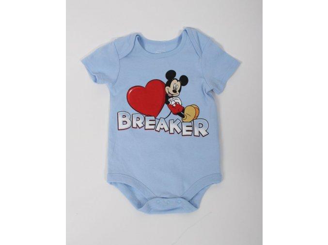 DISNEY dětské/chlapecké body modré s Mickey Mousem