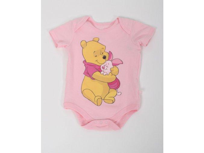 DISNEY dětské/dívčí body světle růžové s medvídkem PÚ