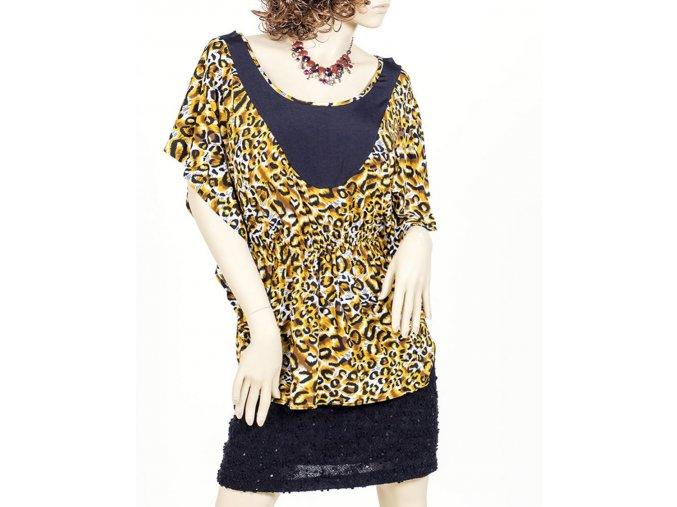 JUTA dámská halenka žlutá leopard