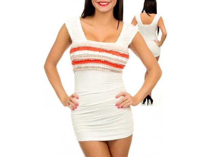 VIZIO U.S.A. dámské šaty bílé