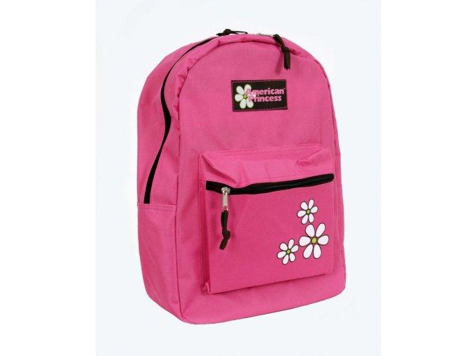 AMERICAN PRINCESS dětský batoh růžový s květinkami