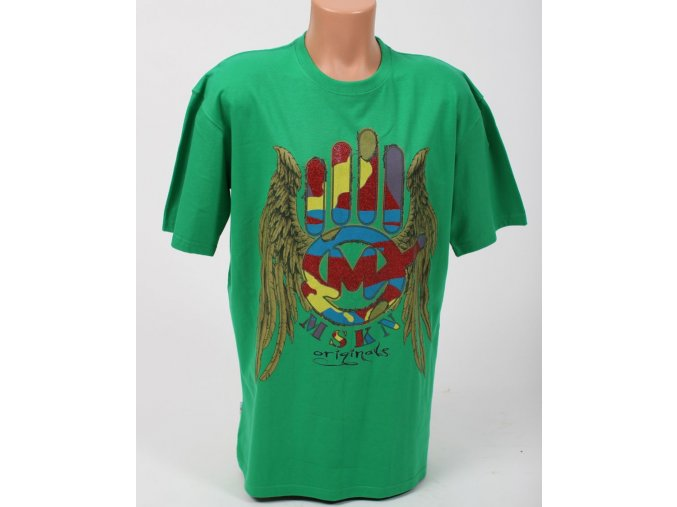 Miskeen pánské tričko zelené s logem