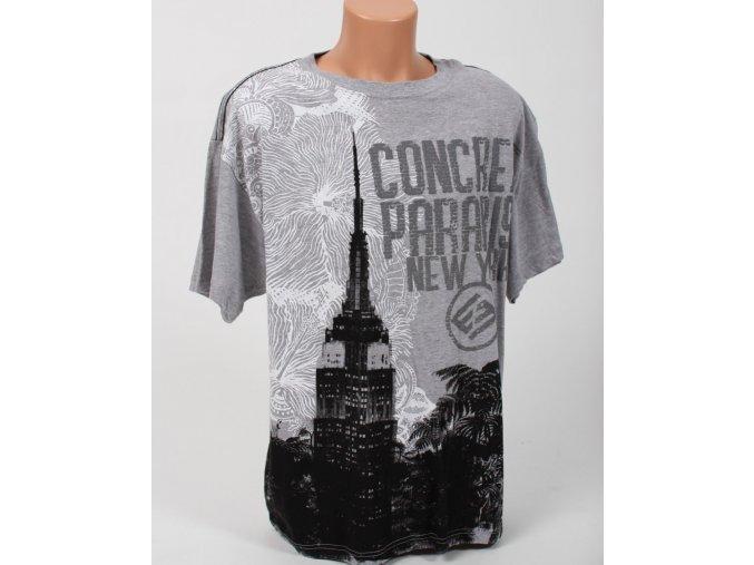 ENYCE pánské tričko šedé s obrázkem NY
