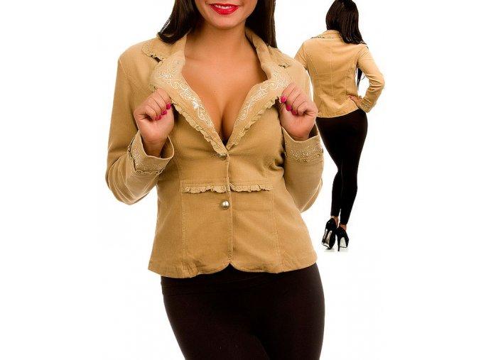 MISHA U.S.A. dámské sako/kabát béžové