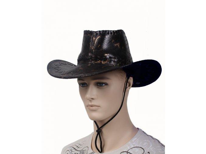 AB pánský kovbojský klobouk černý