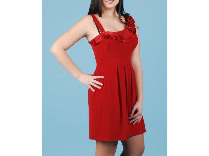 SWEET STORM dámské společenské červené šaty