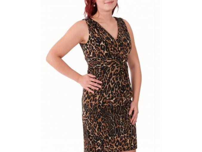 MARINA dámské šaty leopardí