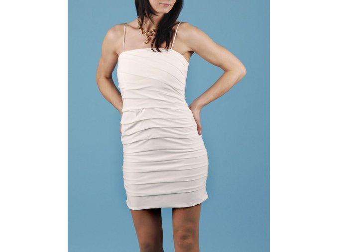 SWEET STORM dámské společenské šaty bílé