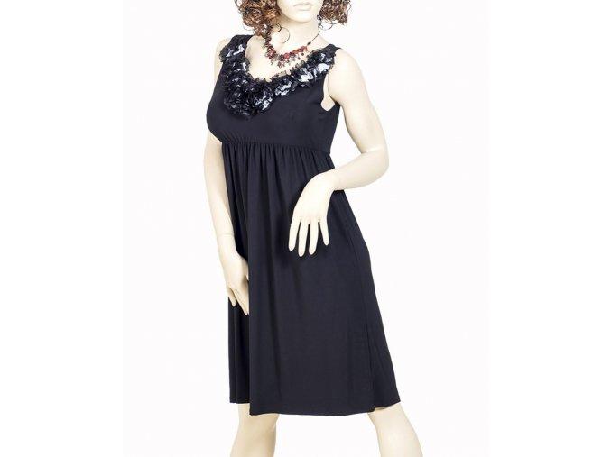 NIC&DOM dámské černé šaty s lemováním